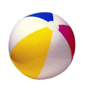 The beachball looks big but it feels light