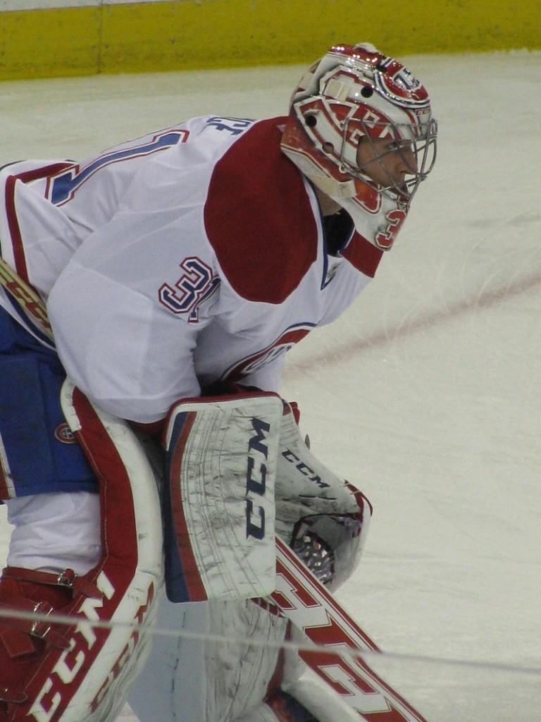 I play ice hockey in Canada