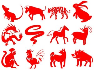 The 12 creatures of the Chinese zodiac