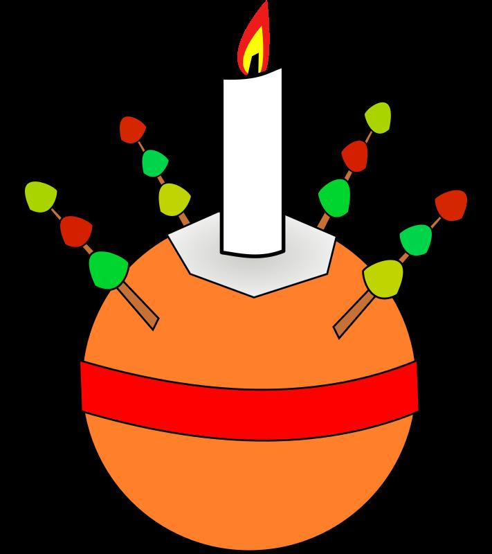 A Christingle as used in many Christian traditions in the run up to Christmas - http://en.wikipedia.org/wiki/Christingle