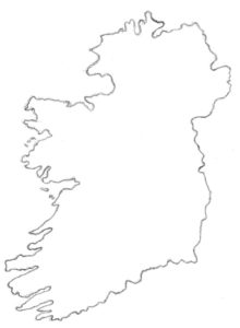 outline map of Ireland